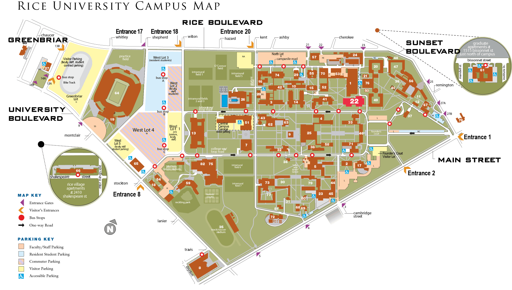 Rice Campus Map Directions and Campus Map – Mika Hasler Competition